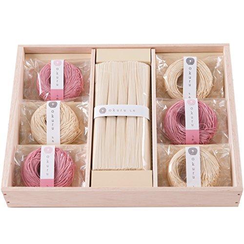 お中元 三輪そうめん okuru 内祝い ギフト 贈り物 贈答品 ギフトセット 紅白麺 hi-30a/un 550g レシピ付き