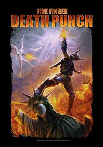 empireposter Five Finger Death Punch - Liberty - Posterflagge Fahne - 100prozent Polyester - Größe 75x110 cm