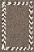Momeni Rugs MESA0MES-8NAT3656 Mesa Collection 100% Wool Hand Woven Flatweave Transitional Area Rug 3'6 x 5'6 Natural Brown [並行輸入品]