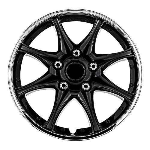 Pilot Automotive WH522-14C-B Black and Chrome 14  Wheel Cover, (Set of 4)
