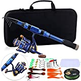 Generic Brands New Fishing Rod 1.8M-2.4M Fishing Rod Combos with Telescopic Fishing Pole Spinning Reels Fishing Bag Lure Line Sets