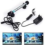 SolarNovo 18-112 cm LED Luz de acuario Iluminación subacuática Cubierta ligera superior Lámpara impermeable 5050 para tanque de peces con control remoto Cambio de color RGB (Azul & blanco, 1.8*18cm)