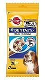 Pedigree Snacks DentaStix für mittelgroße Hunde (10-25kg) 7 Stück, 5er Pack (5 x 180 g)