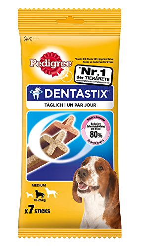 Pedigree Pack de Dentastix de uso Diario para la Limpieza Dental de Perros Medianos (7ud)