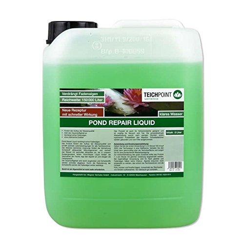 Teichpoint Pond Repair Liquid flüssig, verdrängt sicher Fadenalgen im Teich, Algen im Gartenteich (5 Liter)