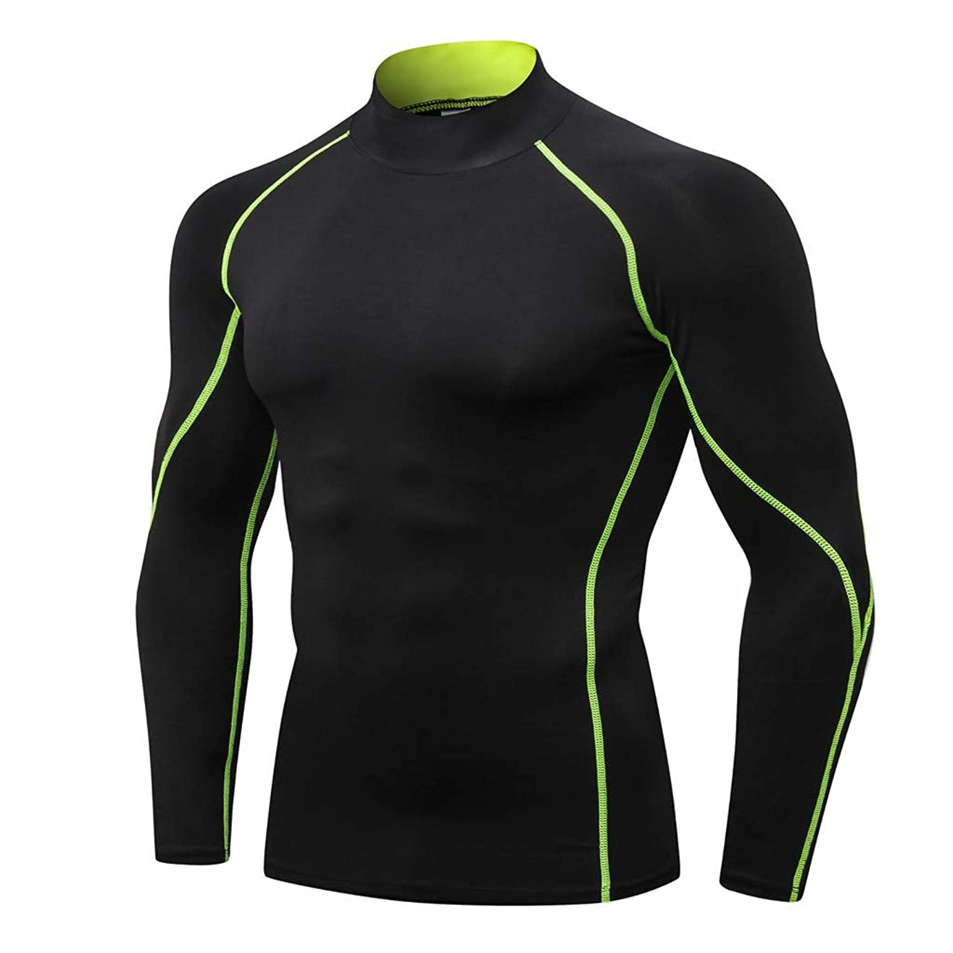 Men's Compression Shirts,Sunyastor Fitness Sports Shirt Long-Sleeve T-Shirts Workout Tee Gym Training Bodybuilding Skin Top