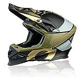 O'NEAL | Casco de Motocross | MX Enduro Motocicleta | Airflaps™ Compatible, Forro Acolchado Coolmax, Cierre de Seguridad Doble-D | F-SRS Helmet Glitch | Adultos | Negro Bronze | Talla XL