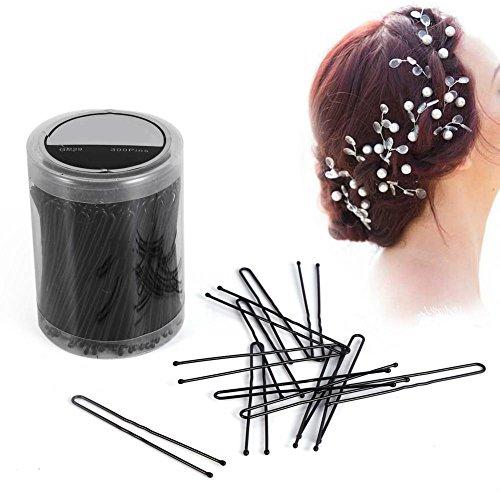 300PCS Kappers Haarspelden Clips Klemmen Golvend U-vormige Clip Haaraccessoires 6 Typen M Zwart