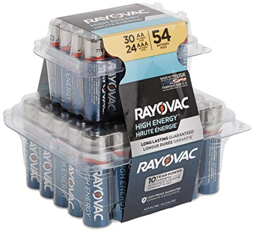 Rayovac AA Batteries & AAA Batteries Combo Pack, 30 AA and 24 AAA (54 Battery Count)