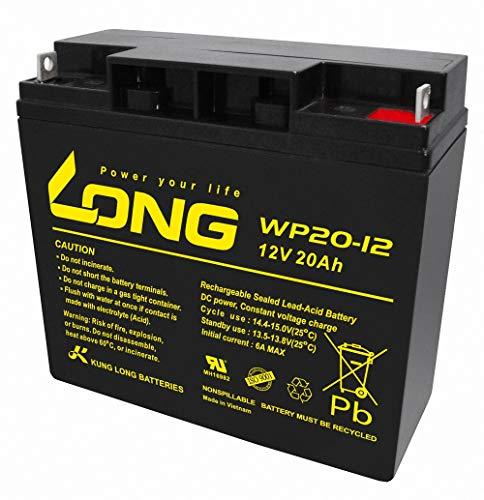 ロング (KUNG LONG BATTERIES) 産業用鉛蓄電池 (12V-20Ah) PE12V17/HP15-12A/互換 (標準系) WP20-12