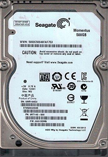 Seagate ST9500423AS P/N: 9rt143–500F/W: 0001sdm5WU 5WR 500GB