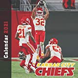 Kansas City Chiefs Calendar 2021: 12 Month Calendar With Many Colorful Photos. Size 8.5 x 8.5 Inches.