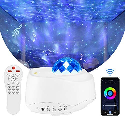 Majome LED Sternenhimmel Projektor Galaxy - Sternenhimmel Lampe, Sternenhimmel nebu licht mit Bluetooth und WiFi, für Nachtlicht Stimmung Ambiente Schlafzimmer Party Dekoration.