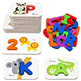 Number and Alphabet Flash Cards for Toddlers 2-4 Years, ABC Montessori Educational Toys Gifts for 2...