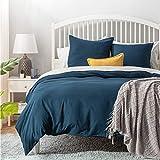 BEDSURE Bettwäsche 135x200 blau Mikrofaser- Bettbezug 135x200 cm 2 teilig mit 80x80 cm Kissenbezug für Einzelbett weich und bügelfrei