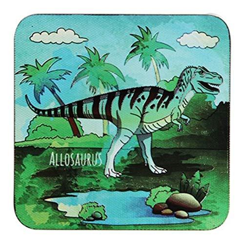 Ensemble de 4 dessous de verre coupe en verre, dessous de verre durable en liège de la mode Dinosaure 16 Dinosaure