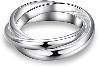 Three Rounds Fashion Silver Round Rings