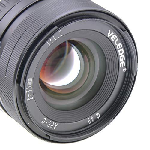 NA Práctica para VELEDGE 35 mm F1.2 Lente Manual de Apertura Grande para cámaras Fuji X-A1 X-A10 X-A2 X-A3 X-at X-M1 X-M2 X-T1 X-T10 X-T2 X-T20 X-Pro1 X-Pro2 X-E1 X-E2 X-E2s