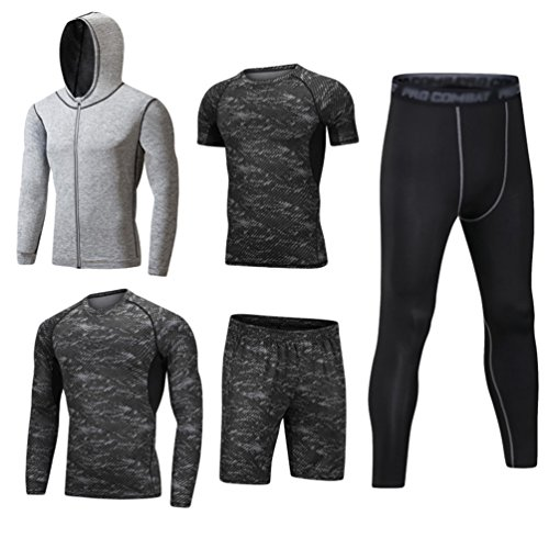 Dooxii Homme 5 Pièces Vêtements de Sport avec Hoodies...