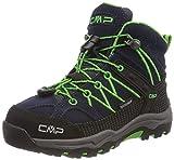 CMP Rigel, Stivali da Escursionismo Alti Unisex – Bambini, Blu (B.Blue-Gecko), 28