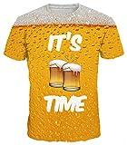 Ocean Plus Homme Multicolore T-Shirt de Sport Amusement Imprimé Animal Col Rond...
