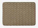 FancyPRINT Jurassic Badematte, Print von verstreuten Knochen und Fossilien archäologische Gegenstände, Plüsch Badezimmer Dekor Matte mit Rutschfester Rückseite, Pastell Braun Dunkel Taupe Taupe Beige