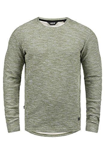 !Solid Gulliver Herren Sweatshirt Pullover Pulli Mit Rundhalsausschnitt Aus 100% Baumwolle, Größe:XXL, Farbe:Dusty Olive Mel (8784)