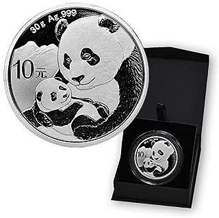 2019 CN Chinese 1 oz Silver Panda 10 Yuan BU in Capsule and Case