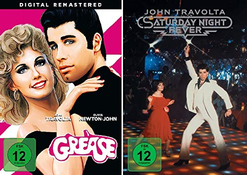 John Travolta Set - Grease + Saturday Night Fever - Deutsche Originalware [2 DVDs]