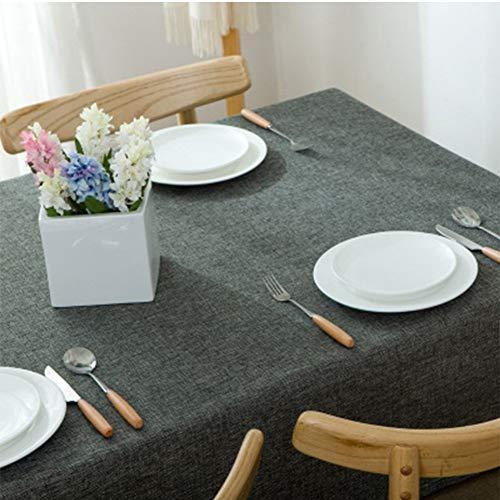 SZTTDM Baumwolle Und Leinen Einfarbige Tischdecke Stoff Schreibtisch Tischdecke Couchtisch Stoff Rechteckiger Esstisch Einfache Moderne Tischdecke,b,140x220cm