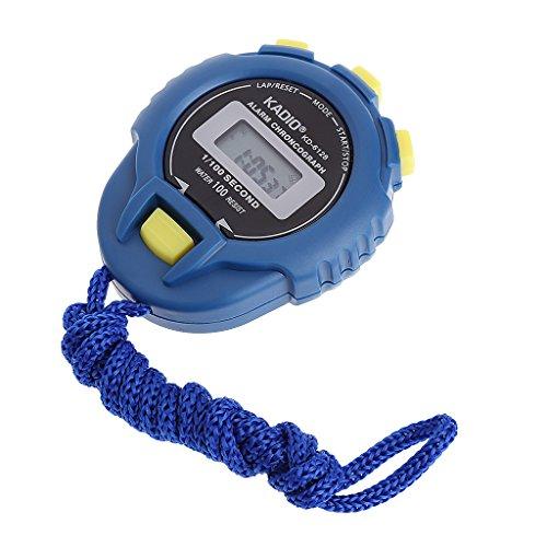 YIFEIJIAO, Cronómetro digital de mano con pantalla LCD deportivo cronógrafo contador temporizador w/correa