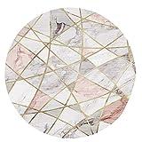 YAOTT Moderno Minimalista Geometrico Motivo Rotondo Tappeto...