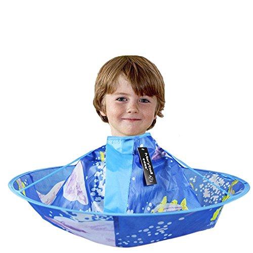 Pawaca - Gorra de peluquería para niños, talla infantil, capa de peluquería, tapas de peluquería para niños