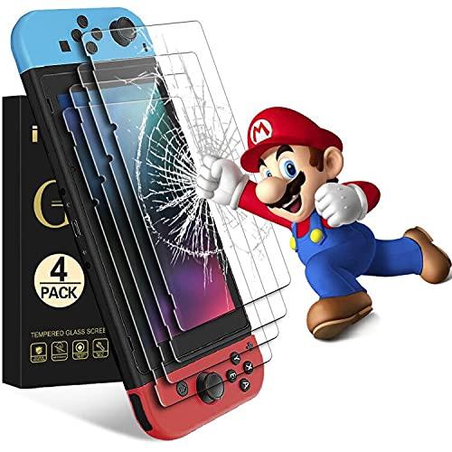 iVoler [4 Pack] Pellicola Vetro Temperato per Nintendo Switch, Pellicola Protettiva Protezione per Schermo per Nintendo Switch