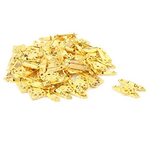 DealMux oco Folha Shaped Retro liga de zinco Jewelry Box Trava Ferrolho Gold Tone 30 PCS