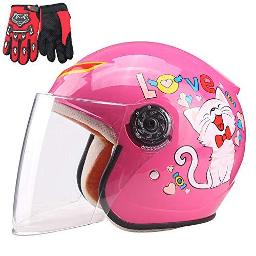HVW Casco de Motocicletas para niños, Casco de Ciclo de Moto para...