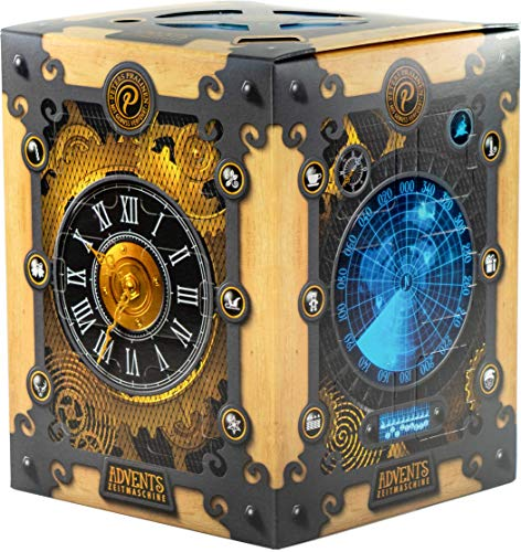 Peters - Adventskalender Advents-Zeitmaschine Pralinen Trüffel Confiserie - 300g - mit Alkohol | Zeitmaschinen-Adventskalender