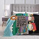 Engshi Mantas para Cama South Park Blanket,Flannel Throw Blanket Ultra Soft...