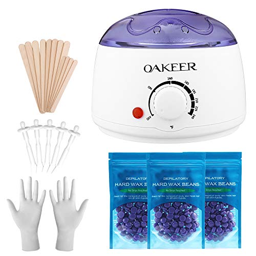 2020 Mini Wax Warmer Painless Hair Removal Body Waxing Kit Designed for Body Partial Waxing Werewolf Own Waxing at Home,24 Accessories