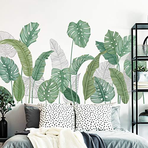 Muurstickers Nordic Style Slaapzaal Ins Zelfklevende Behang Decoratie Sticker Schilderen Creatieve Groene Plant Rokken Handgeschilderd