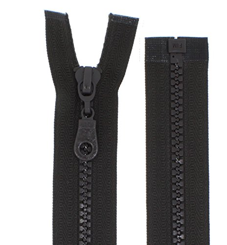 FIM Reißverschluss Plastik Zähne Nr.5 mittelgrob Teilbar für Jacken Farbe: 28 - Dunkelbraun(305), 75cm lang