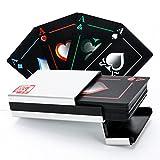 HOPEFULCOM Waterproof Poker Cards Black PVC Playing Cards Set Professional Poker + Aluminum Gift Box Top Qualit