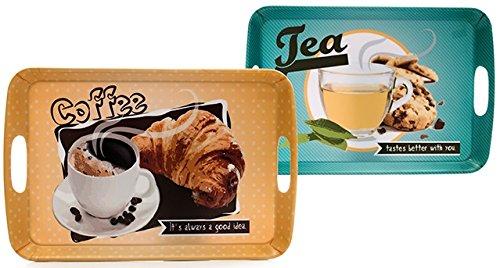 AVENUELAFAYETTE Plateau Repas déco Petit déjeuner - Vintage rétro - 38 x 25 cm (Tea - Cookies)