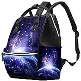 Earth View Galaxy Space Glow Universe - Bolsa para pañales de Gran Capacidad Multi01. 27x19.8x36.5cm/10.6x7.8x14in