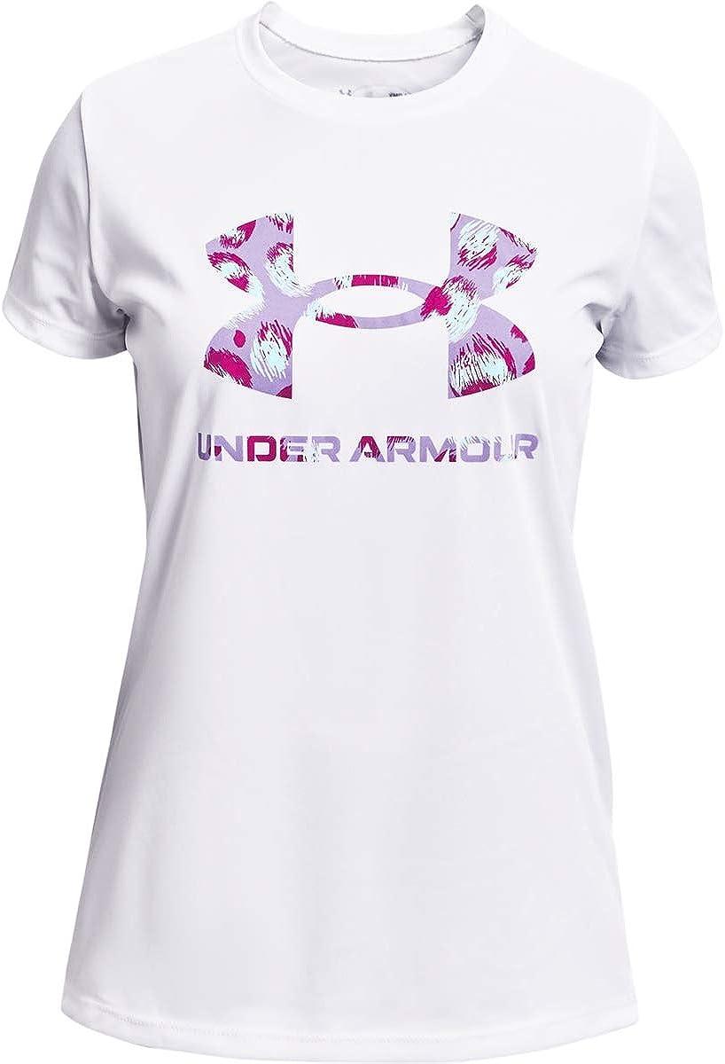Under Armour Girls Tech Big Logo Print Fill T-Shirt