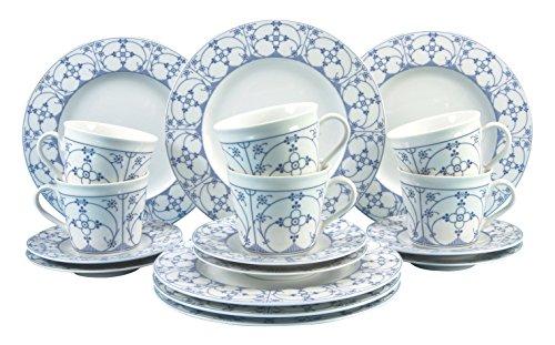 Creatable Kaffeeservice, Porzellan, blau, 30 x 24.5 x 33 cm, 18-Einheiten