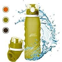 500 ml, con mosquet/ón, a Prueba de Fugas, sin BPA, para Viajes, Deportes, Bebidas Botella de Silicona Plegable para ni/ños Fringoo