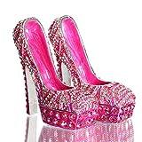 Waltz&F Diamond Pink High Heel Shoe Set Metal Hinged Trinket Box Jewelry Holder Home Decoration 2pcs