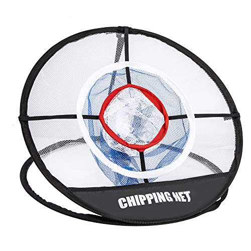 Red de Astillado de Golf Golpear Portátil Golf Chipping Net con Bolsa de Transporte para Ayudas de Entrenamiento de Golpe...