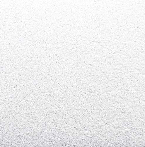 Baumwollputz Schneeweiß mit edlen Glanzfaserstücken- Flüssigtapete aus weißer Baumwolle für ca. 4m²